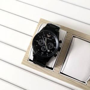 Мужские наручные часы черного цвета Emporio Armani AR-5905 Black Silicone