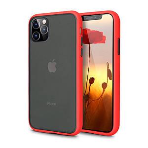 Чехол накладка xCase для iPhone 11 Gingle series red black
