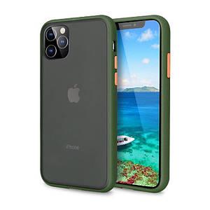 Чохол накладка xCase для iPhone 11 Pro Max Gingle series light green orange