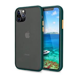 Чехол накладка xCase для iPhone 11 Gingle series Forest green orange