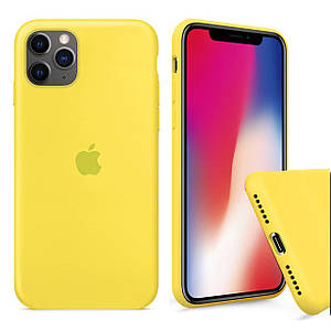 Чохол накладка xCase для iPhone 11 Pro Max Silicone Case Full canary yellow