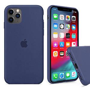 Чохол накладка xCase для iPhone 11 Pro Max Silicone Case Full alaskan blue
