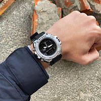 Casio часы наручные Мужские электронные Касио Casio G-Shock GLG-1000 Black-Silver-Black.Серые часы касио