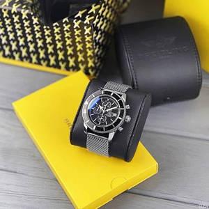 Наручные часы Breitling A23870 Chronographe Silver-Black/ Кварцевые мужские часы класса  luxury  Breitling