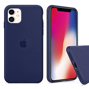 Чехол накладка xCase для iPhone 11 Silicone Case Full midnight blue