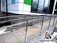 Ограждения пандуса из нержавеющей стали AISI 201, поручень Ø38 мм, стойка Ø38 мм, Молочанск, фото 1