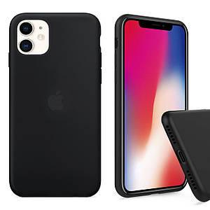 Чехол накладка xCase для iPhone 11 Silicone Case Full black