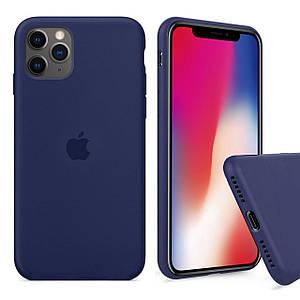 Чохол накладка xCase для iPhone 11 Pro Max Silicone Case Full midnight blue