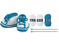 Набор для вязания пинеток Crelando, трикотажная нить, пряжа 3 мотка по 25г/43м, спицы 4.0