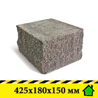 """Колотый блок """"Рустик"""" 425х180х150 мм"""