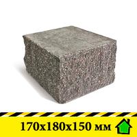 """Колотый блок """"Рустик"""" 170х180х150 мм"""