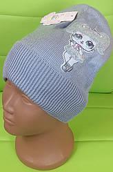 Шапка ЛОЛЛА размер 52-54, серый