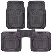 Коврики PVC КУ-16050 BK 5шт./компл. черные 75x52 52x47 50х23 (КУ-16050 BK)