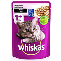 Влажный корм Whiskas для котов, лосось в соусе, 100 г