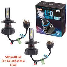 Лампы Pulso S1 PLUS/H4-H/L/LED-chips CSP/9-32v2*20w/4500Lm/6500K (S1 PLUS-H4)