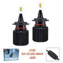 Лампы Pulso J1/H7/LED-chips CSP/9-32v2*20w/4000Lm/6500K (J1-H7)