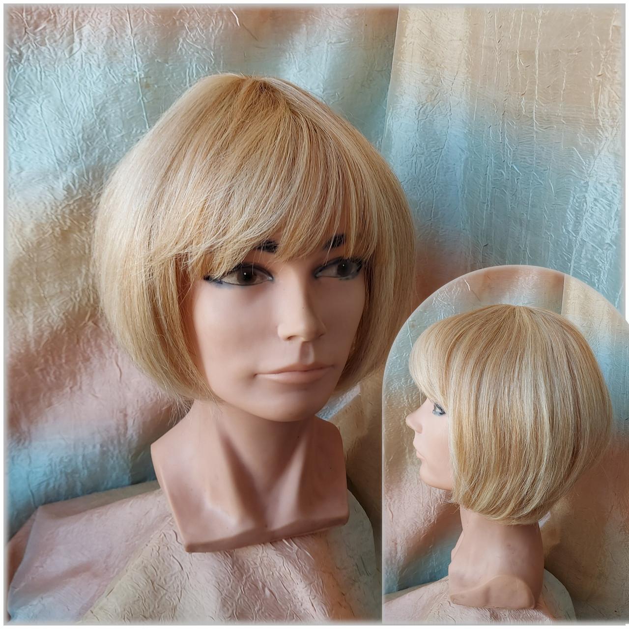 Парик из натуральных волос боб-каре пшеничный блонд ERIN bob- P27/613