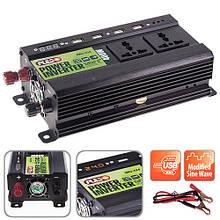 Преобраз. напряжения Pulso/IMU 424/24V-220V/400W/4USB-5VDC2.0A/LED/мод.волна/клеммы (IMU-424)