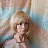 Парик из натуральных волос боб-каре пшеничный блонд ERIN bob- P27/613, фото 5