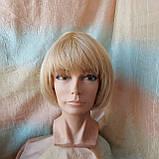 Парик из натуральных волос боб-каре пшеничный блонд ERIN bob- P27/613, фото 2