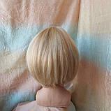 Парик из натуральных волос боб-каре пшеничный блонд ERIN bob- P27/613, фото 3