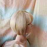 Парик из натуральных волос боб-каре пшеничный блонд ERIN bob- P27/613, фото 7