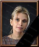 Фотографія на похорон, поминки Розмір 100х150мм (10*15см) в рамкесчерной стрічкою на підкладці, фото 2
