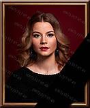 Фотографія на похорон, поминки Розмір 100х150мм (10*15см) в рамкесчерной стрічкою на підкладці, фото 3