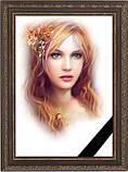 Фотографія на похорон, поминки Розмір 100х150мм (10*15см) в рамкесчерной стрічкою на підкладці, фото 6