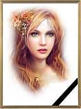 Фотографія на похорон, поминки Розмір 100х150мм (10*15см) в рамкесчерной стрічкою на підкладці, фото 7