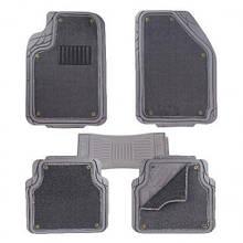 Коврики PVC съемный войлок КУ-16043 GY 5шт./компл. серые 74x50 47x50 23x50 (КУ-16043 GY)