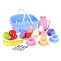 """Набор посудки """"Корзинка"""", Технок, игрушки для девочек,дитяча кухня,Игрушечный набор посуды,Набор посуды"""