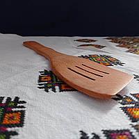 Деревянная лопатка шумовка для кухни буковая