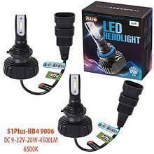 Лампы Pulso S1 PLUS/HB4 9006/LED-chips CSP/9-32v2*20w/4500Lm/6500K (S1 PLUS-HB4 9006)