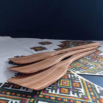 Дерев'яні лопатки, ложки, виделки