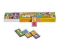 """Домино """"Ферма"""" детская развивающая настольная игра для всей семьи деревянное с картинками развивает логику."""