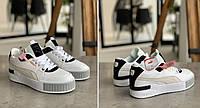 Женские Кроссовки Puma Cali Mix Пума Кали Микс Чёрно-белые (37). Женская обувь. Реплика