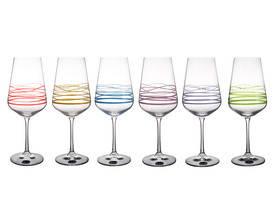 Набор бокалов для вина Bohemia 350 мл 6 шт Sandra 40728 350S M8700