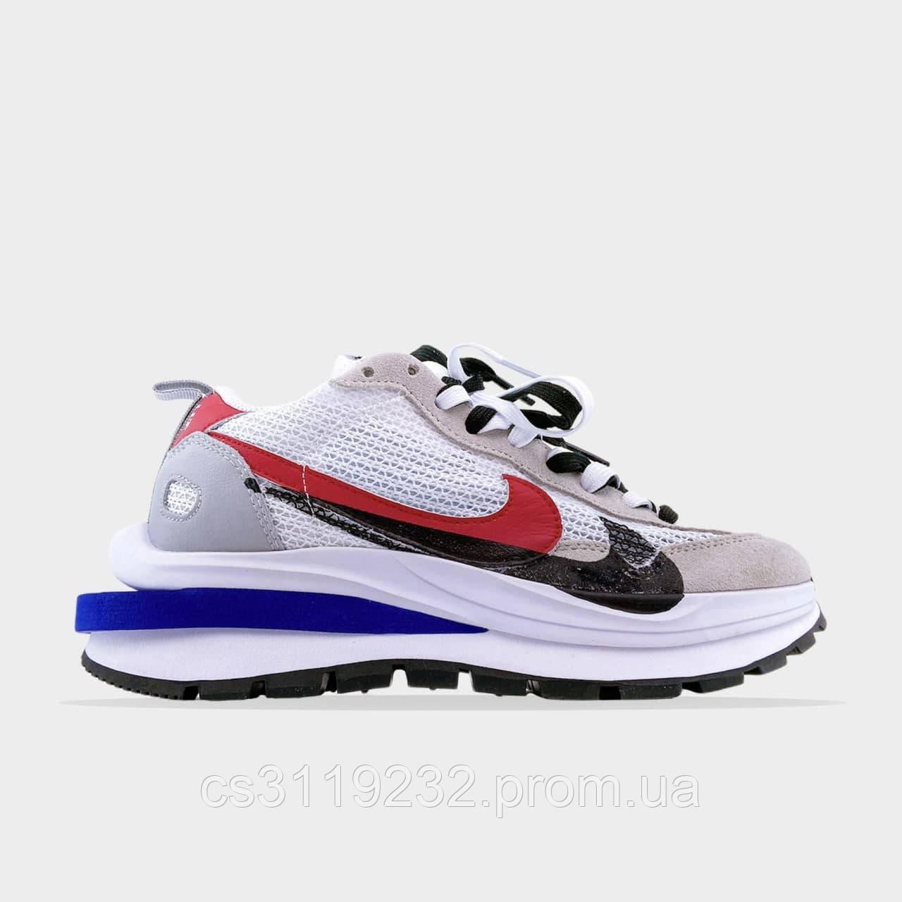Женские кроссовки Nike x Sacai VaporWaffle White  (белые)
