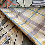 Постельное белье полуторный комплект с простыню на резинке Постельное белье с фланели 1,5 полуторка, фото 7