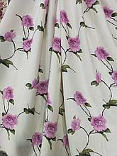 Комплект штор з рожевими квітами.Пошитий на тисьму. 2 штори по 1.5м висота 2.7м