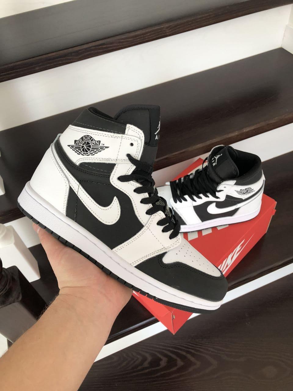 Кросівки Air Jordan 1 High White/Black весна/осінь 41   42   43   44   45   46
