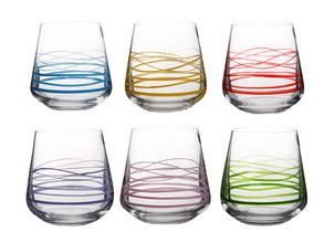 Набор стаканов для виски Bohemia 290 мл 6 шт Sandra 23013/290S/M8700