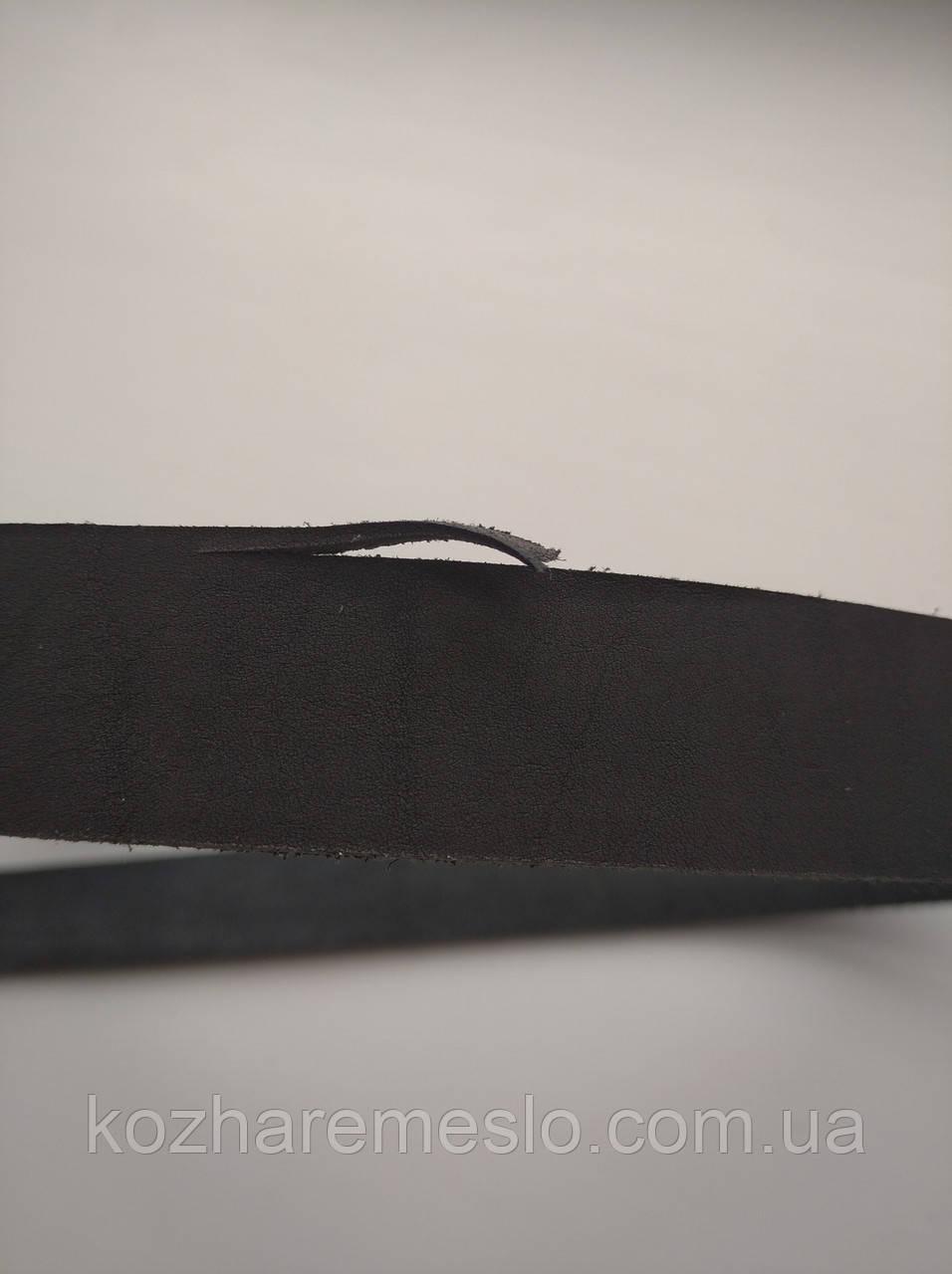 Ременная полоса из кожи хромового дубления КРАСТ 30 мм, толщина 3,6 - 4,0 мм (УКРАИНА) чёрный