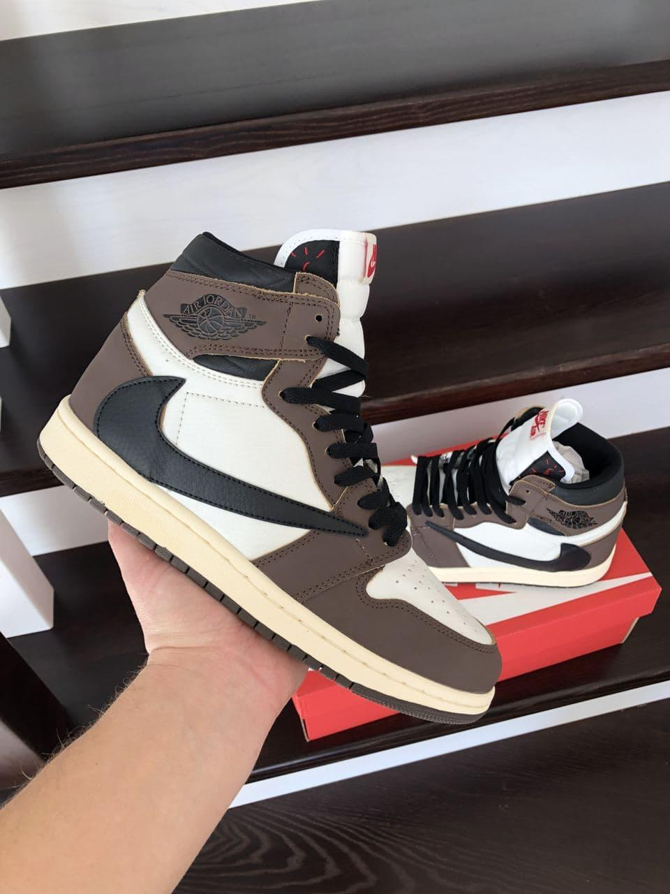 Кросівки Air Jordan 1 High коричневі весна/осінь 41   42   43   44   45   46