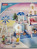Конструктор типа лего для девочки Розовая мечта лего для девочек SLUBAN Замок 446 деталей M38-B0868