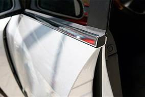 Mazda 3 2009-2013 рр. Окантовка вікон (4 шт, нерж) Седан