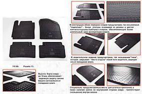 Kia Picanto 2016↗ рр. Гумові килимки (4 шт, Stingray Premium)
