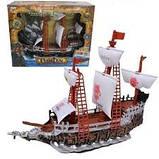 Піратський корабель іграшка для дітей Pirates Legend сміх капітана, музика, підсвічування арт.350-2, фото 2