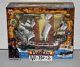 Піратський корабель іграшка для дітей Pirates Legend сміх капітана, музика, підсвічування арт.350-2, фото 3